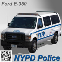 3d nypd police car model