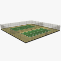 3ds max tennis court