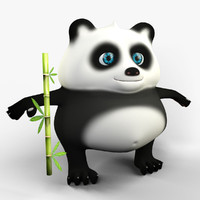 3d panda cartoon character model