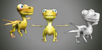 3d model baby dragon