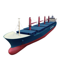 3d cargo vessel huyndai model