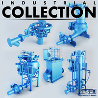 industrial pumps 3d obj
