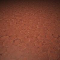 Hexagonal Terracotta Tiles Texture 4K