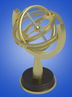 gyroscope 3d max