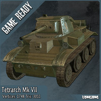 3d light tank mk vii model