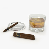 3d max whiskey cigars