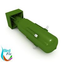 3d model of atomic bomb