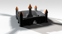 c4d castle mini miniature