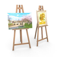 3d model painting easels