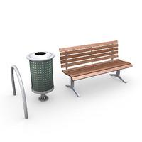3d street litter bin model