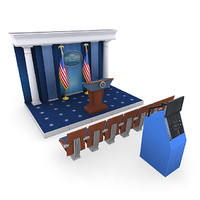 3d model white house press room