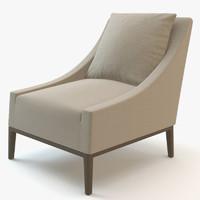 3d model b italia jean chair