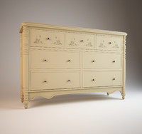 3d chest drawers hooker usa model