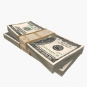 one hundred dollar bill 3D models