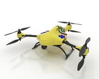 ambulance drone 3d max