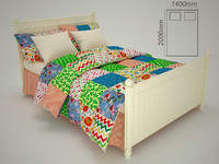 3d bed bedcloth model