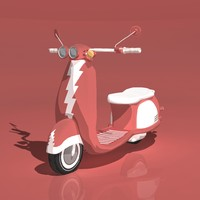 shaders animation bike 3d model