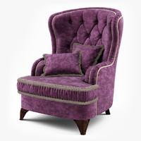 3d model louis armchair