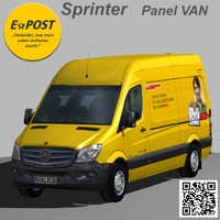 3d mercedes sprinter van e-post