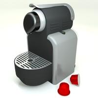 nespresso 3d model