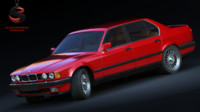 bmw 7 series e32 3d obj