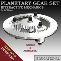 3d model gears planetary set