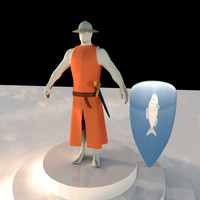 3d cartoon knight model