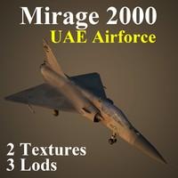 mirage 2000 2 uae 3d model