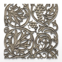 ornament bas relief grapes 3d max
