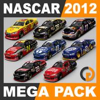 nascar 2012 packed 3d model