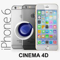 apple iphone 6 3d obj