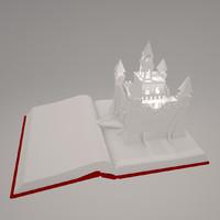 3d model castle book