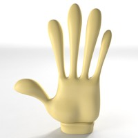maya gloved cartoon hand