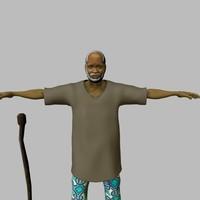 african man walking ma
