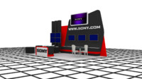 sony exhibition stand design 3ds