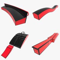 snowboard ramps 3d model