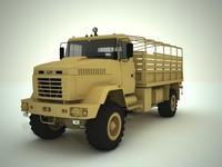 3d truck kraz 5322