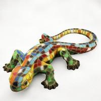 free realistic mosaic lizard 3d model