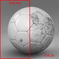3d ball soccer white