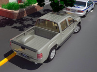 3d model gmc sierra crew cab