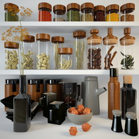3ds max spices jars fennel