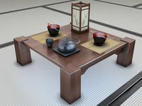 set japanese 3d model