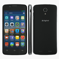 smartphone zopo zp590 black 3d model