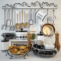 utensils cookies plate 3d model