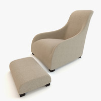 3ds max modern chair maxalto armchair