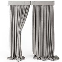 3d curtain loft model