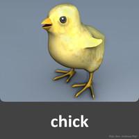 3d model chick