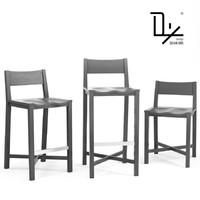 modern bar stool 3d x
