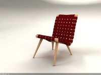 risom furniture knoll 3ds