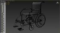 3d model of wheelchair chair